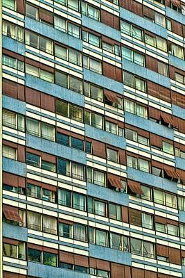 Poster featuring the photograph Apartment Windows by Kim Wilson