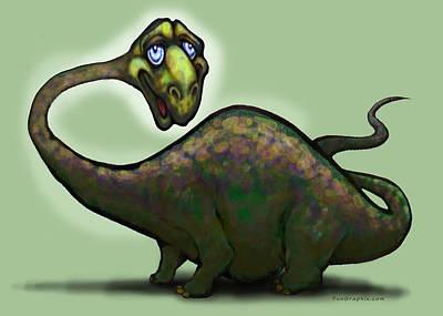 Apatosaurus Brontosaurus Poster by Kevin Middleton