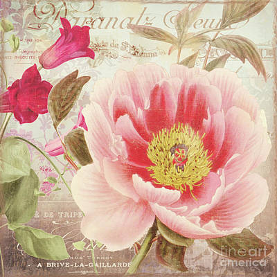 Aphrodite Peony Poster by Mindy Sommers