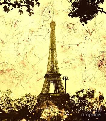 Apocalyptic Garden Party Eiffel Tower 13 Poster