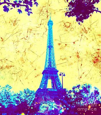 Apocalyptic Garden Party Eiffel Tower 15 Poster