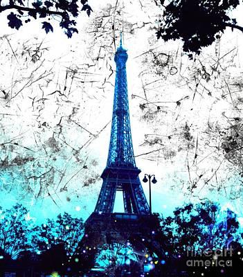 Apocalyptic Garden Party Eiffel Tower 16 Poster