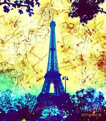 Apocalyptic Garden Party Eiffel Tower 18 Poster
