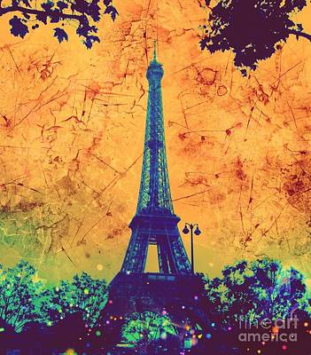 Apocalyptic Garden Party Eiffel Tower 26 Poster