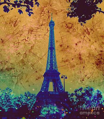 Apocalyptic Garden Party Eiffel Tower 31 Poster
