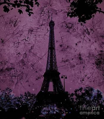 Apocalyptic Garden Party Eiffel Tower 55 Poster