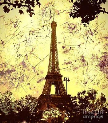 Apocalyptic Garden Party Eiffel Tower 59 Poster