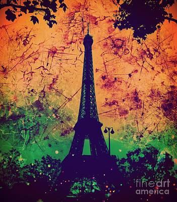 Apocalyptic Garden Party Eiffel Tower 60 Poster