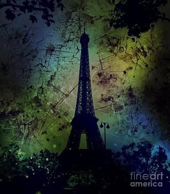 Apocalyptic Garden Party Eiffel Tower 67 Poster