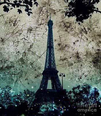 Apocalyptic Garden Party Eiffel Tower 1 Poster