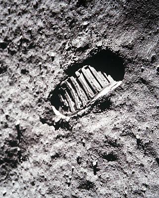 Apollo 11 Footprint On The Moon Poster