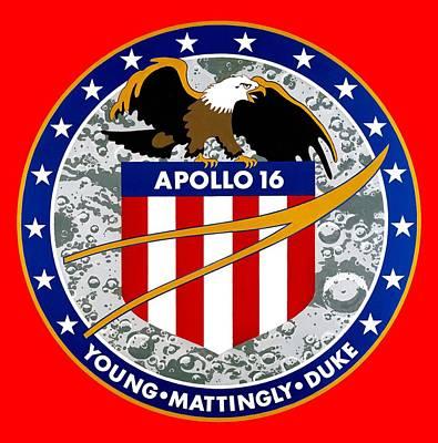Apollo 16 Poster by Otis Porritt