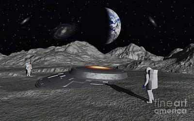 Apollo Astronauts Discover A Ufo Poster by Mark Stevenson
