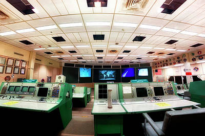 Poster featuring the photograph Apollo Mission Control - Space Center Houston - Nasa by Jason Politte
