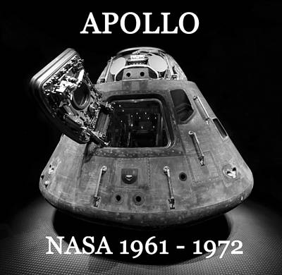 Apollo Mission Space Capsule Bw Poster by David Lee Thompson