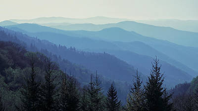 Poster featuring the photograph Appalachian Blue by Nicholas Blackwell
