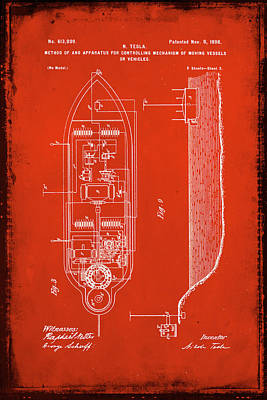 Apparatus For Controlling Moving Vessels Patent Drawing 2c Poster by Brian Reaves