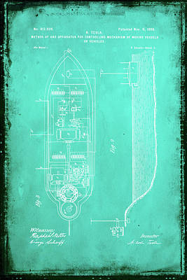 Apparatus For Controlling Moving Vessels Patent Drawing 2e Poster by Brian Reaves