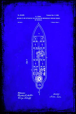 Apparatus For Controlling Moving Vessels Patent Drawing  Poster by Brian Reaves