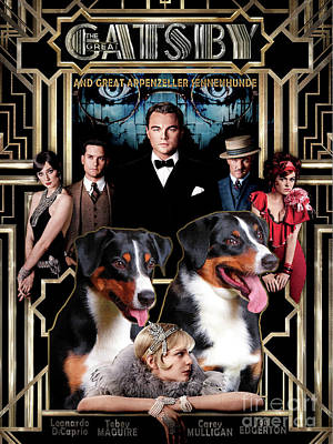 Appenzeller Sennenhund - Appenzell Cattle Dog Art Canvas Print - The Great Gatsby Movie Poster Etsy. Poster