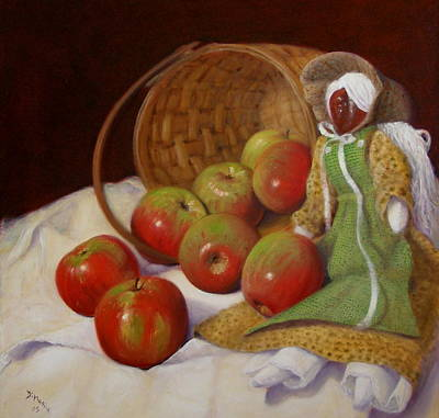 Poster featuring the painting Apple Annie by Donelli  DiMaria