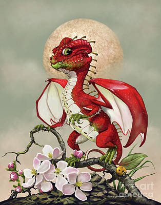 Apple Dragon Poster by Stanley Morrison