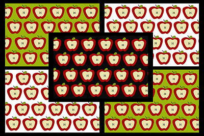 Poster featuring the digital art Apple For The Teacher- Cute Art by KayeCee Spain