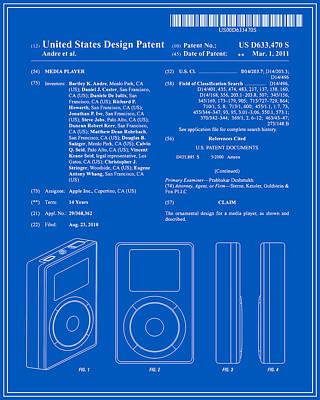 Apple Ipod Patent - Blueprint Poster