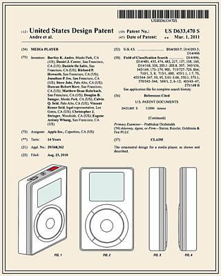 Apple Ipod Patent - Colour Poster