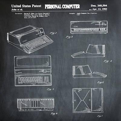 Apple Macintosh Patent 1983 Chalk Poster