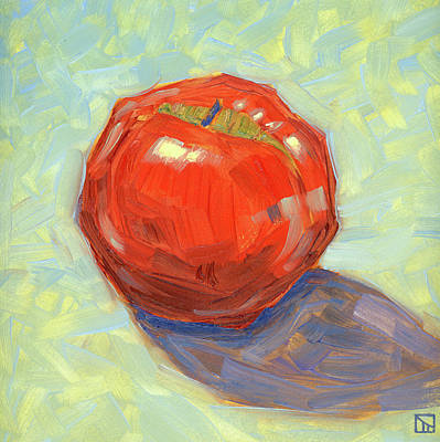 Round Red Apple I Poster by Tom Taneyhill