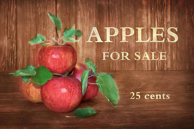 Apples For Sale Poster by Lori Deiter