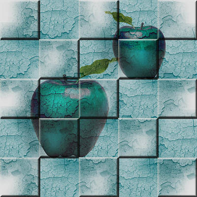 Poster featuring the digital art Apples by Katy Breen