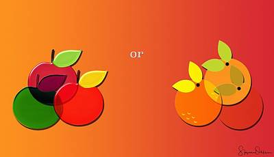 Apples Or Oranges - Signed Limited Edition Poster