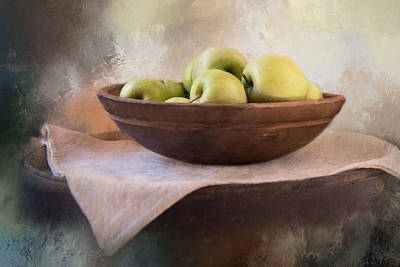 Poster featuring the photograph Apples by Robin-Lee Vieira