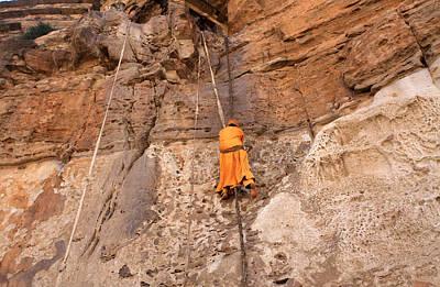Approach To Debre Damo Monastery Poster by Aidan Moran