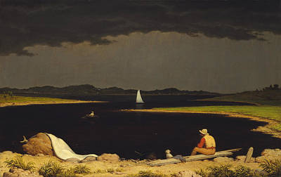 Approaching Thunderstorm Poster by Martin Johnson Heade