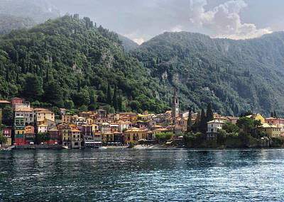 Approaching Varenna Poster by Jim Hill