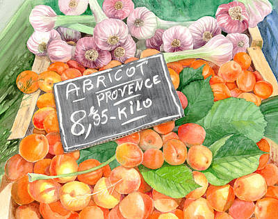 Apricots In An Open Air Market In Nice, France, 10 X 14 Poster by Olga Belyaeva