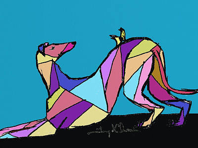 Greyhound Colors Poster