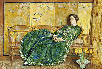 April  Poster by Childe Hassam