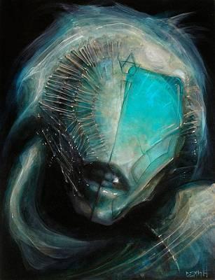 Aqua Alien Poster