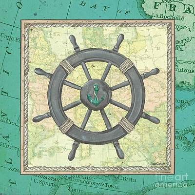 Aqua Maritime Poster by Debbie DeWitt