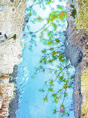 Aqua Metallic Clear Poster