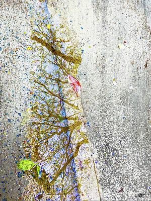 Aqua Metallic Series Spring Poster
