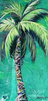 Aqua Palm Poster