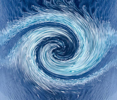 Aqua Swirl Poster by Keith Armstrong