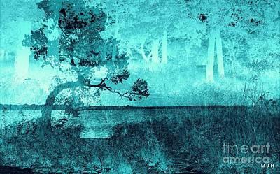 Aqua Vision Poster by Mickey Harkins
