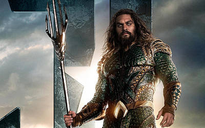 Aquaman In Justice League Poster