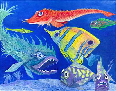 Aquarium 1 Poster by Adria Trail